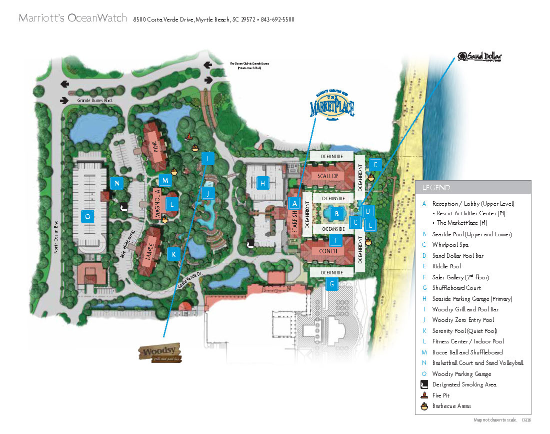 Map Of The Marriotts OceanWatch Villa Complex